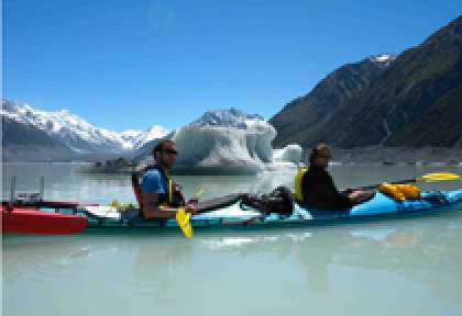 Mt Cook Sea kayaking glacier